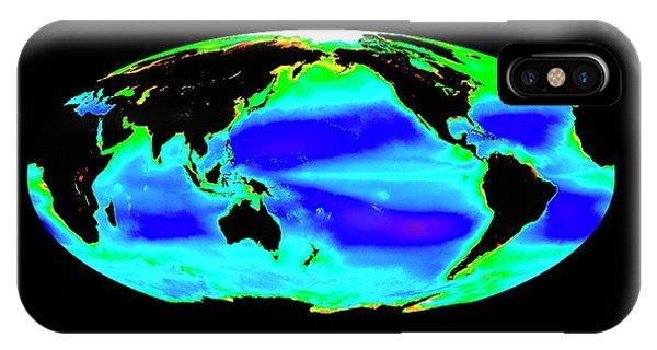Phytoplankton iPhone Case - Global Chlorophyll Levels by Nasa/seawifs/geoeye