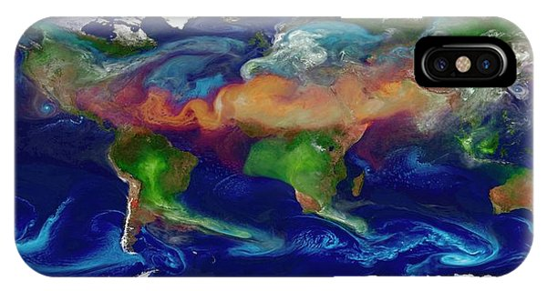 Organic Matter iPhone Case - Global Dust Levels by William Putman/nasa Goddard Space Flight Center