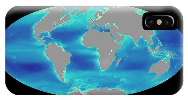 Phytoplankton iPhone Case - Global Phytoplankton Levels by Nasa/seawifs/geoeye