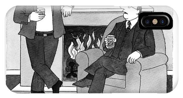 Fireplace iPhone Case - Global Warming by J.B. Handelsman