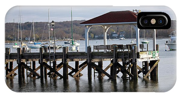 Gloomy Day Northport Dock Long Island New York IPhone Case