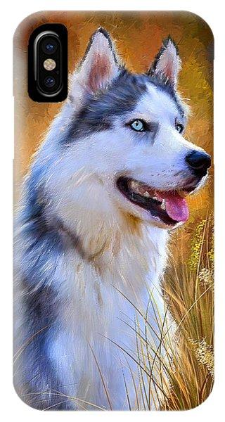 Glorious Pride - Siberian Husky Portrait IPhone Case
