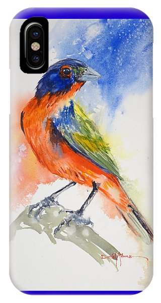 Da188 Glow Of The Painted Bunting Daniel Adams IPhone Case