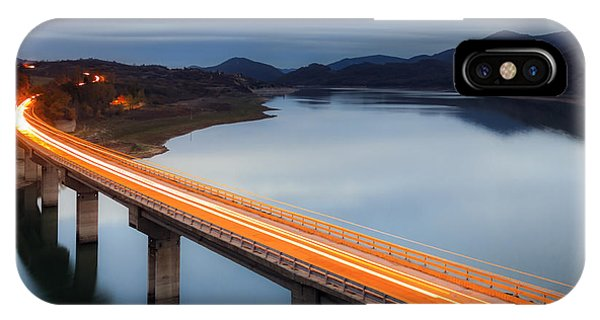 Road iPhone Case - Glowing Bridge by Evgeni Dinev