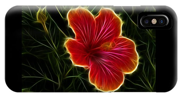 Glowing Hibiscus IPhone Case