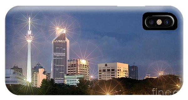 Glowing Lights Of Kuala Lumpur - Malaysia - South East Asia IPhone Case