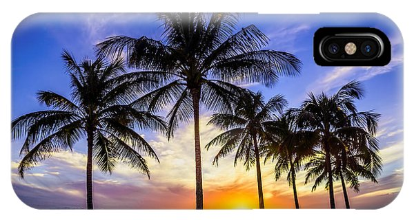 Oahu iPhone Case - Glowing Orange Hawaiian Sunset by Aloha Art