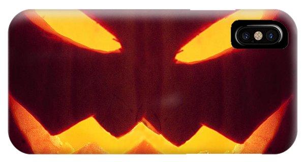 Glowing Pumpkin IPhone Case