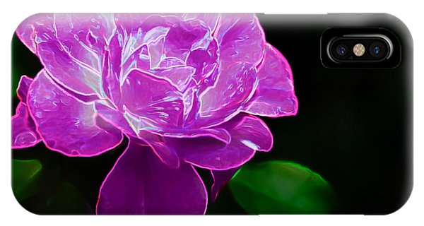 Glowing Rose II IPhone Case