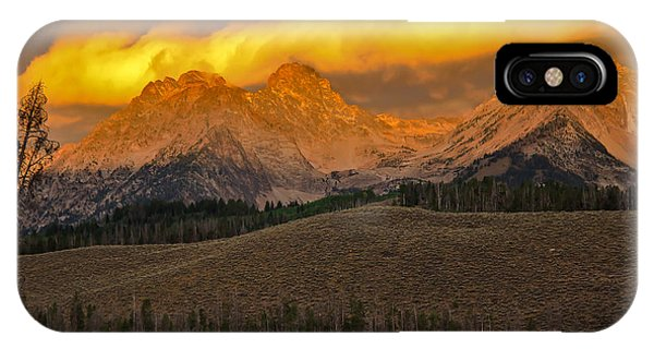 Osprey iPhone Case - Glowing Sawtooth Mountains by Robert Bales