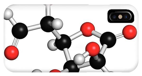 Tissue iPhone Case - Glucuronolactone Molecule by Molekuul