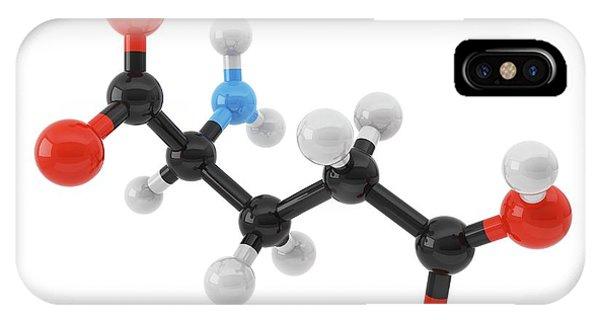 Glutamic Acid Amino Acid Molecule Phone Case by Maurizio De Angelis/science Photo Library