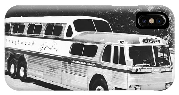 1958 iPhone Case - Gm's Latest Bus Line by Underwood Archives