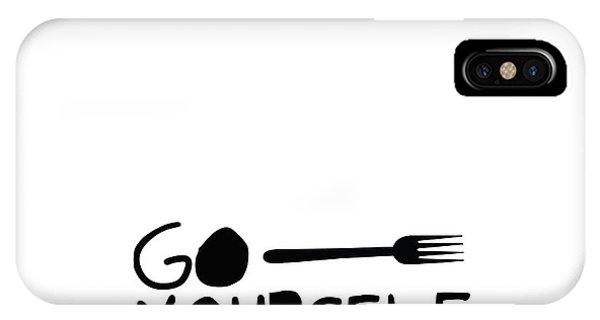 Fork iPhone Case - Go Fork Yourself by L Bee