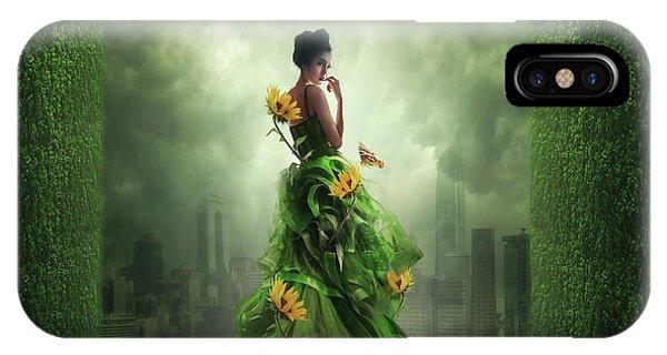 Fairytales iPhone Case - Go Green by Hardibudi