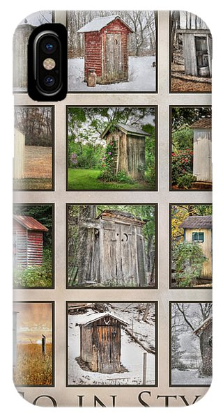 Go In Style - Outhouses IPhone Case