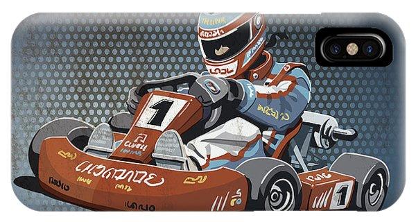 Go-kart Racing Grunge Color IPhone Case