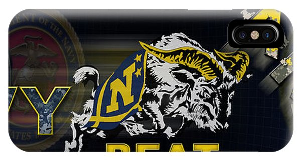 Naval Academy iPhone Case - Go Navy Beat Army by Mountain Dreams
