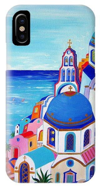 go to Santorini now IPhone Case