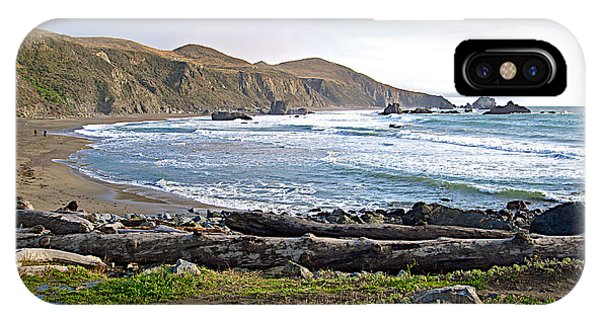 Goat Rock State Beach On The Pacific Ocean Near Outlet Of Russian River-ca  IPhone Case