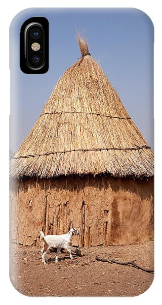 Goats And Hut In Himba Village, Opuwo Phone Case by Jaynes Gallery
