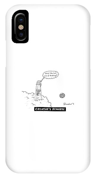 God Looks At Earth And Thinks What The Hell IPhone Case