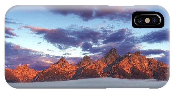 God Morning Tetons Phone Case by Marco Crupi