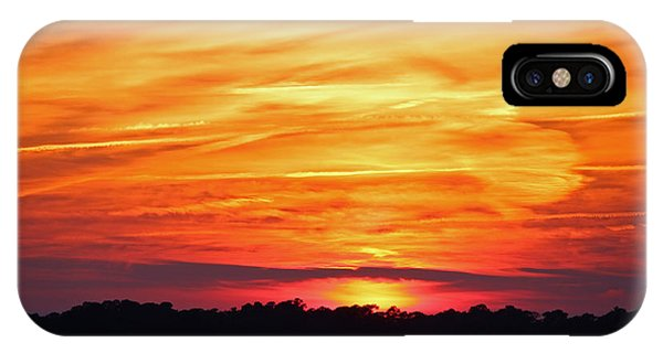 God Paints The Sky IPhone Case