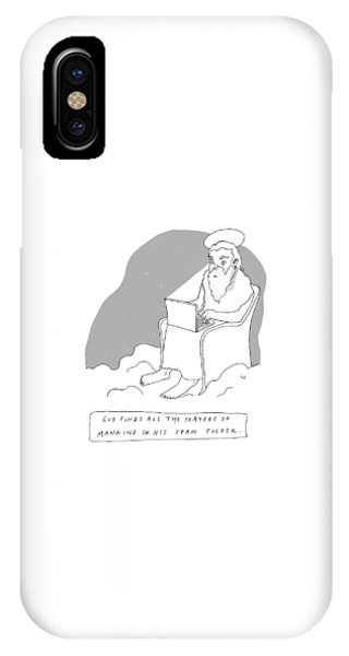 God Sits In A Throne In Heaven IPhone Case