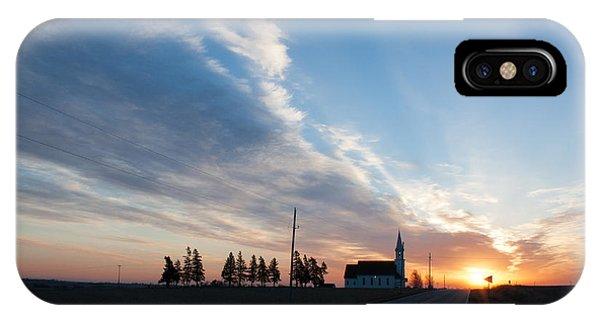 Gods Sunrise Over His Church IPhone Case