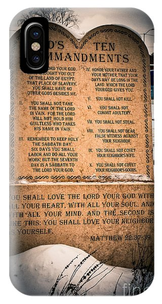 God's Ten Commandments IPhone Case