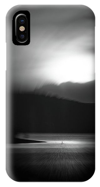Dark Clouds iPhone Case - Going To The Other Side by Stefan Neuwirth