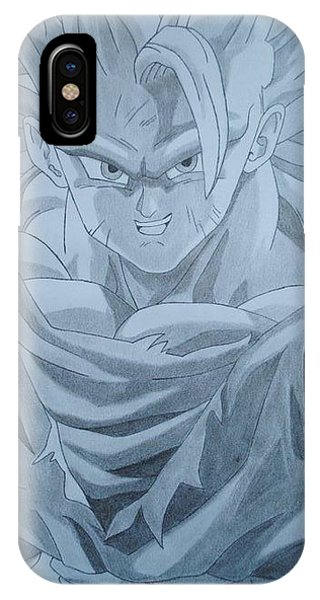 Saiyans iPhone Case - Goku Ssj3 by Arjuna Enait