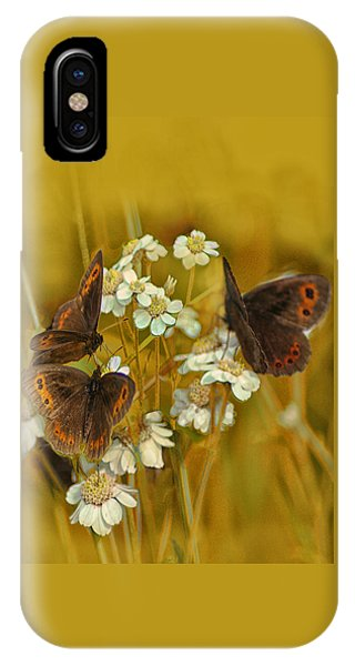 Gold And Brown IPhone Case