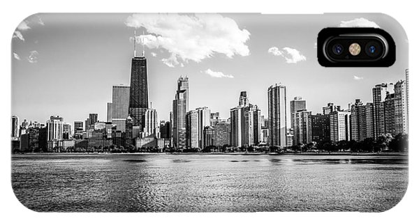 Gold Coast Skyline In Chicago Black And White Picture IPhone Case