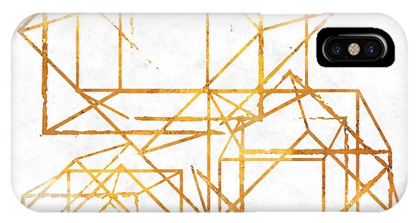 Christmas iPhone Case - Gold Cubed I by South Social Studio