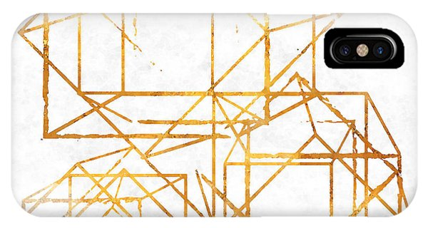 Gold Cubed I IPhone Case