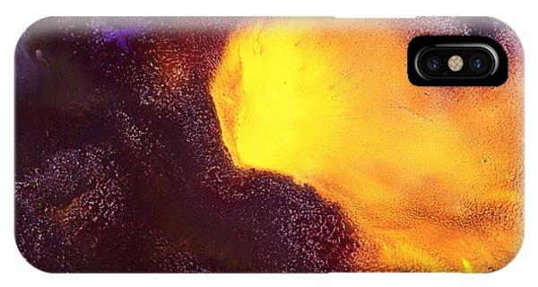 Gold Echo Horizontal Abstract Art By Kredart IPhone Case