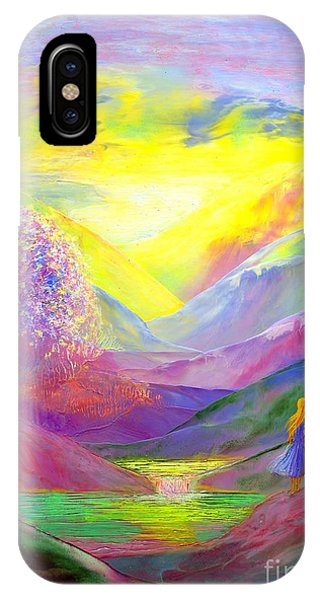 Meditative iPhone Case - Gold Horizons by Jane Small