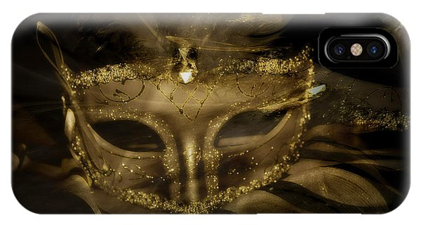 Gold In The Mask IPhone Case