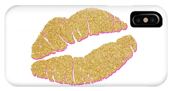 Love iPhone Case - Gold Kiss by South Social Studio