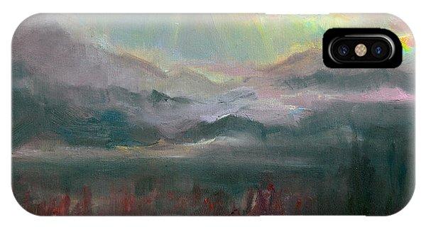 Gold Lining - Chugach Mountain Range En Plein Air IPhone Case