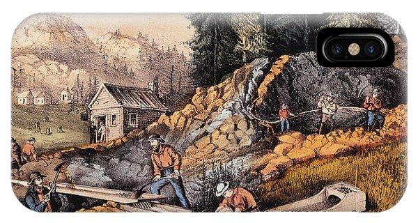 Gold Mining In California IPhone Case