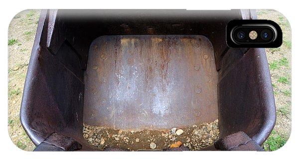 Gold Mining Steam Shovel Bucket Close-up IPhone Case