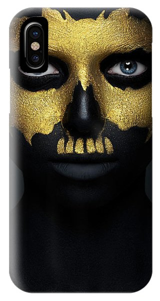 Faces iPhone Case - Gold Of The Dead. by Alex Malikov