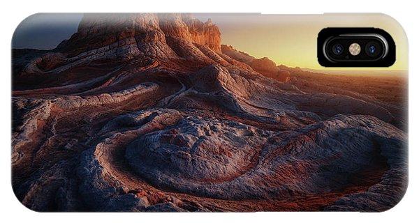 Rock Formation iPhone Case - Gold Pocket. by Juan Pablo De