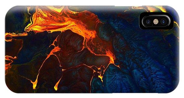 Gold Signature - Gold Orange Abstract Art By Kredart IPhone Case