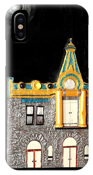 Gold Victorian Mansion-montreal IPhone Case