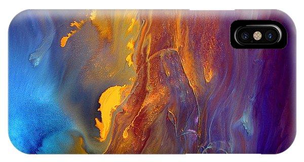 Gold Waterfall - Liquid Gold Abstract Art By Kredart IPhone Case