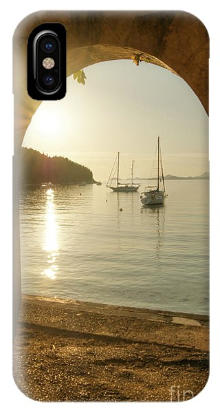 Golden Archway Sunset IPhone Case